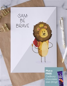cards: Personalised Be Brave Lion Card!