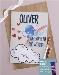 cards: Personalised Welcome To The World Card!