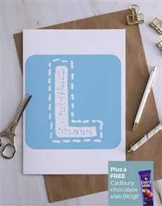 cards: Personalised Stitched Initial Card!