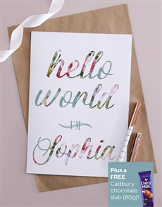 cards: Personalised Hello World Card!