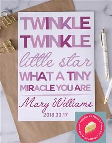 cards: Personalised Twinkle Twinkle Card!