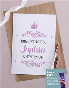 cards: Personalised Little Princess Card!