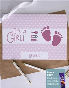 cards: Personalised Tiny Pink Footprints Card!