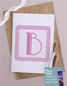 cards: Personalised Baby Girl Block Card!
