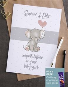 cards: Personalised Congratulations Baby Girl Card!