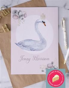cards: Personalised Royal Swan Card!