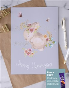 cards: Personalised Baby Bunny Card!