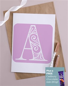 cards: Personalised Pink Initial Card!