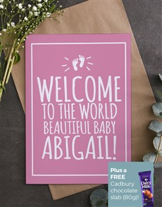 cards: Personalised Beautiful Baby Girl Card!