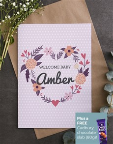 cards: Personalised Floral Heart Card!