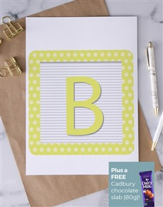 cards: Personalised Play Block Greeting Card!