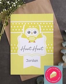 cards: Personalised Hoot Hoot Owl Card!