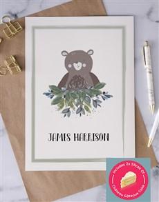 cards: Personalised Brown Teddy Bear Card!