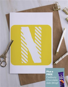 cards: Personalised Hello Yellow Greeting Card!