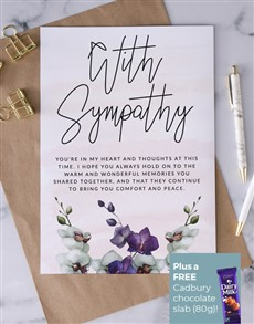 cards: Personalised Comfort And Peace Sympathy Card!
