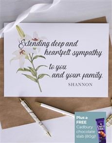 cards: Personalised Heartfelt Lily Sympathy Card!