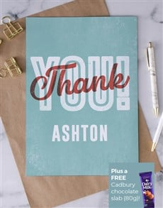 cards: Personalised Preppy Thank You Card!