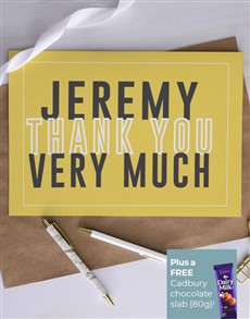 cards: Personalised Yellow Thank You Card!
