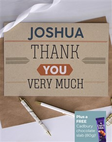cards: Personalised Thank You Note Greeting Card!