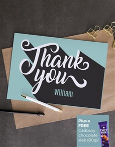 cards: Personalised Retro Thank You Card!