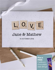 cards: Personalised Scrabble Love Card!