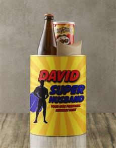 gifts: Personalised Superhero Husband Bro Bucket!