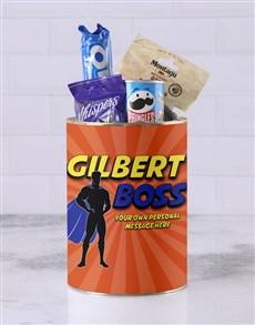 gifts: Personalised Superhero Boss Bro Bucket!