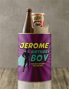 gifts: Personalised Superhero Birthday Boy Bro Bucket!