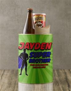 gifts: Personalised Superhero Brother Bro Bucket!
