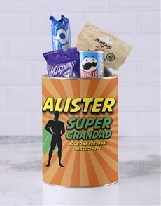 gifts: Personalised Superhero Grandpa Bro Bucket!