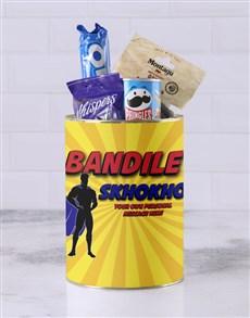gifts: Personalised Superhero Skhokho Bro Bucket!