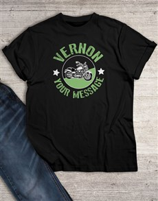 gifts: Personalised Motorbike Graphic T Shirt!