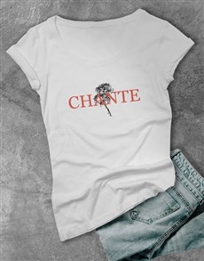 gifts: Personalised Rose Graphic Ladies T Shirt!
