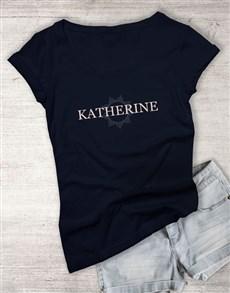 gifts: Personalised Starburst Graphic Ladies T Shirt!