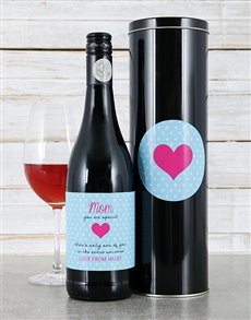 gifts: Personalised Only One Of You Wine Tin!