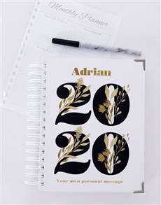 gifts: Personalised Golden Year Diary!