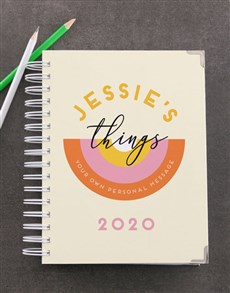 gifts: Personalised Daily Things Diary!