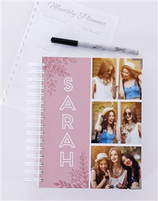 gifts: Personalised Pink Photo Trio Diary!