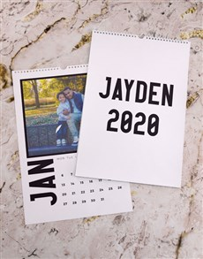 gifts: Personalised Modern Photo Wall Calendar!