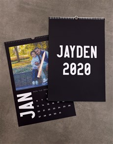 gifts: Personalised Minimalist Photo Wall Calendar!