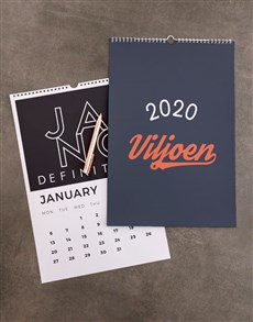 gifts: Personalised Love SA Wall Calendar!