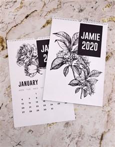 gifts: Personalised Botanical Sketch Wall Calendar!