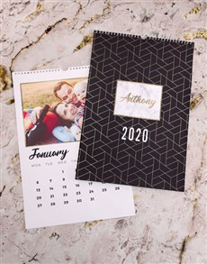 gifts: Personalised Geometric Wall Calendar!
