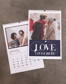 gifts: Personalised Love Lives Here Wall Calendar!