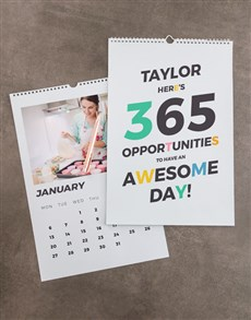 gifts: Personalised 365 Awesome Days Wall Calendar!