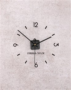 gifts: Personalised Couple Perspex Clock!
