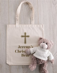 gifts: Personalised Teddy in Holy Cross Drawstring Bag!