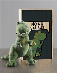 gifts: Personalised Dinosaur Teddy And Crate!
