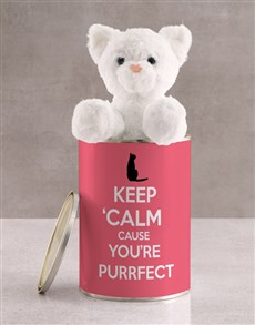 gifts: Personalised Cat Teddy And Chocolate In Tin!