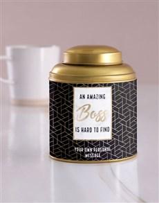 gifts: Personalised Amazing Boss Tea Tin!